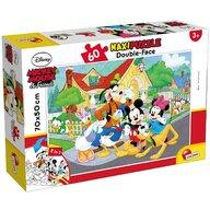 Lisciani - Puzzle personaje Mickey Mouse Maxi, Cu desen de colorat Puzzle Copii, piese 60