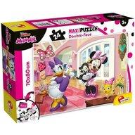Lisciani - Puzzle personaje Minnie in vizita Maxi, Cu desen de colorat Puzzle Copii, piese 24