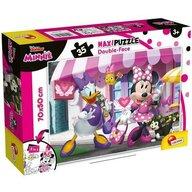 Lisciani - Puzzle personaje Minnie si Daisy la cumparaturi Maxi, Cu desen de colorat Puzzle Copii, piese 35