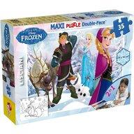 Lisciani - Puzzle personaje Regatul de gheata Maxi, Cu desen de colorat Puzzle Copii, piese 35