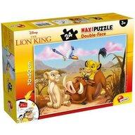Lisciani - Puzzle personaje Regele Leu Maxi, Cu desen de colorat Puzzle Copii, piese 24