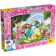 Lisciani - Puzzle personaje Printese in gradina Cu desen de colorat Puzzle Copii, piese 24