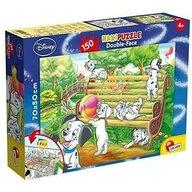 Lisciani - Puzzle personaje 101 Dalmatieni Cu desen de colorat, Supermaxi Puzzle Copii, piese 150