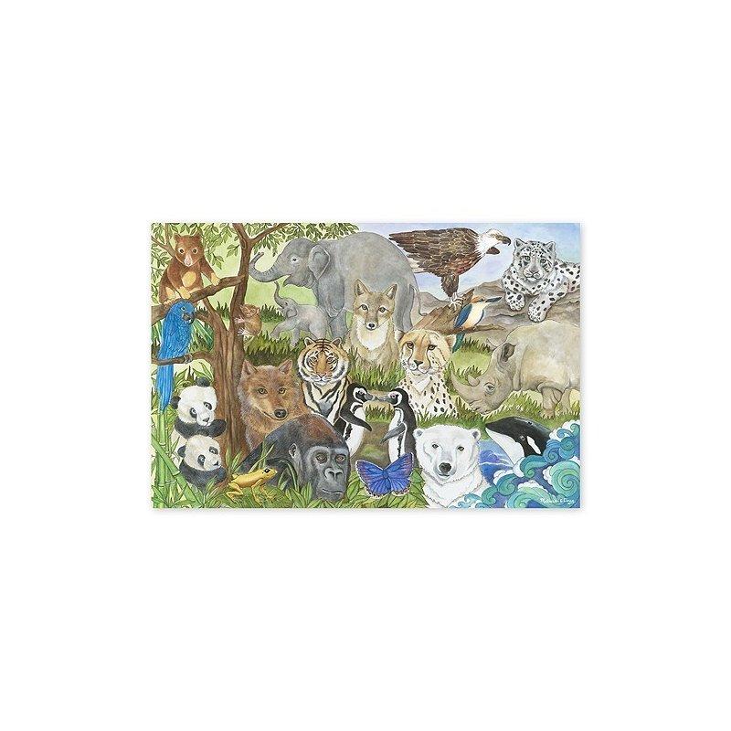 Melissa & Doug Puzzle De Podea Animale Protejate din categoria Puzzle copii de la Melissa & Doug