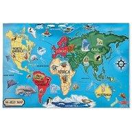Melissa & Doug - Puzzle De Podea Harta Lumii Worldap