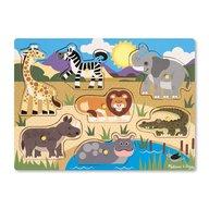 Melissa & Doug - Puzzle din lemn Animalele safari