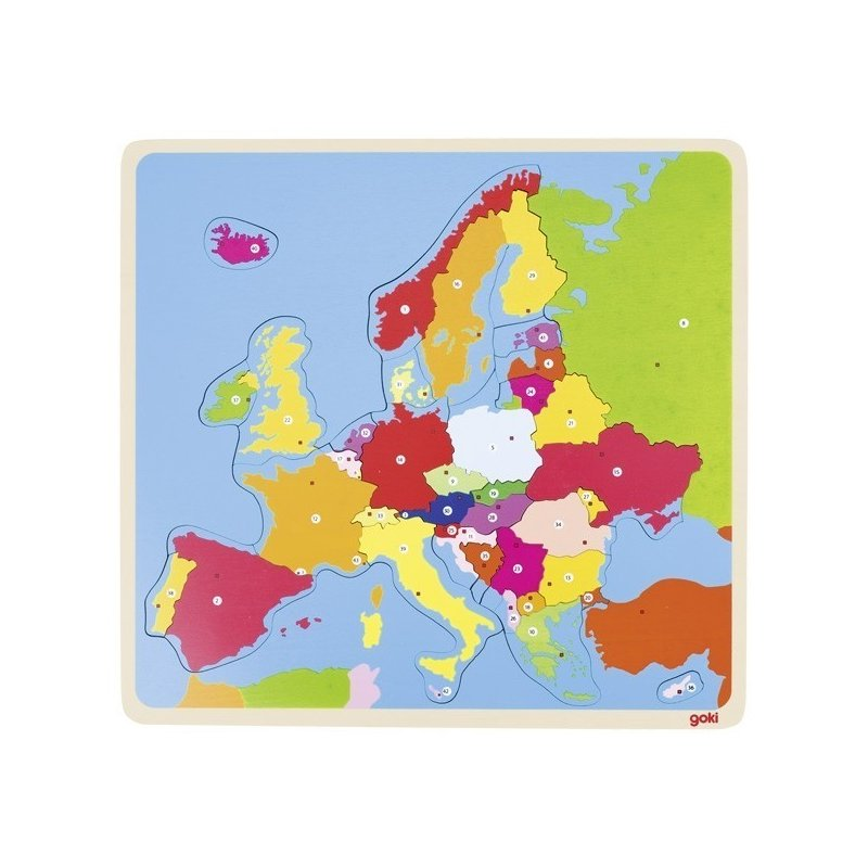 Goki Puzzle din lemn Harta Europei din categoria Puzzle copii de la Goki