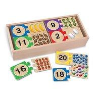 Melissa & Doug - Puzzle din lemn pentru invatarea numerelor