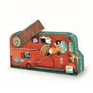 Djeco - Puzzle Masina de pompieri