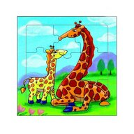 MamaMemo - Puzzle educativ girafe, 18m+