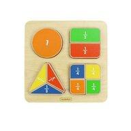 Masterkidz - Puzzle Fractiile (forme geometrice), din lemn, +2 ani,