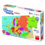 Dino - Toys - Puzzle geografic Harta Europei, 69 piese