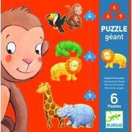 Djeco - Puzzle gigant animale salbatice