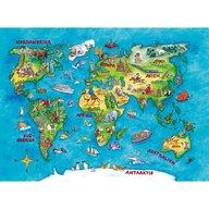 Ravensburger - Puzzle educativ Harta calatorii Puzzle Copii, piese 100