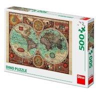 Dino - Toys - Puzzle Harta lumii din 1626 (500 piese)