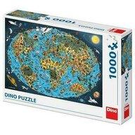 Dino - Puzzle educativ Harta lumii pentru copii Puzzle Copii, piese 1000