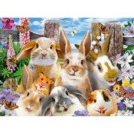 Ravensburger - Puzzle animale Iepurasi Puzzle Copii, piese 100