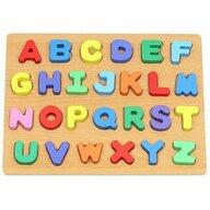 Iso Trade - Puzzle din lemn Alfabet Puzzle Copii, piese 26