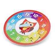 New Classic Toys - Puzzle lemn ceas, Bufnita