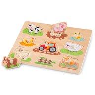 New Classic Toys - Puzzle lemn, Ferma