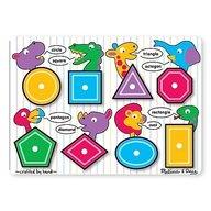 Melissa & Doug - Puzzle lemn Forme geometrice Melissa and Doug