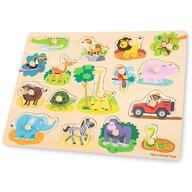 New Classic Toys - Puzzle din lemn Safari Puzzle Copii, piese17
