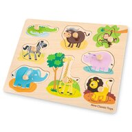 New Classic Toys - Puzzle din lemn Safari Puzzle Copii, piese9