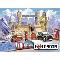 Ravensburger - Puzzle orase Londra Puzzle Copii, piese 100