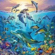 Ravensburger - Puzzle animale Lumea subacvatica Puzzle Copii, piese 147