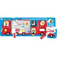 Banana Panda - Puzzle vehicule Masina de pompieri 98x33 cm Puzzle Copii, piese 23
