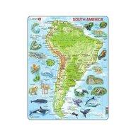 Larsen - Puzzle maxi America de Sud, orientare tip portret, 65 de piese,