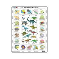 Larsen - Puzzle maxi Dinozauri fascinanti  orientare tip vedere  35 de piese