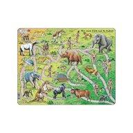 Larsen - Puzzle maxi Drumul de la maimuta la om  orientare tip vedere  83 de piese