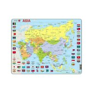Larsen - Puzzle maxi Harta politica a Asiei  orientare tip vedere  70 de piese