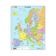 Larsen - Puzzle maxi Harta politica a Europei, orientare tip portret,  37 de piese,
