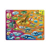 Larsen - Puzzle maxi Istoria animalelor  orientare tip vedere  85 de piese