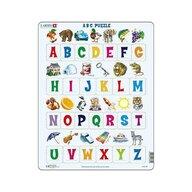 Larsen - Puzzle maxi Literele mari ale alfabetului cu imagini  orientare tip vedere  26 de piese