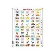 Larsen - Puzzle maxi Memo cu animale si copiii acestora  40 de piese