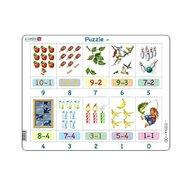 Larsen - Puzzle maxi Scaderi cu imagini, orientare tip vedere, 20 de piese,