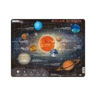 Larsen - Puzzle maxi Sistemul solar, orientare tip vedere, 70 de piese,