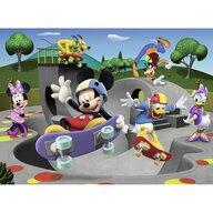 Ravensburger - Puzzle personaje Mickey cu skateboard Puzzle Copii, piese 100