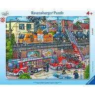 Ravensburger - Puzzle vehicule Misiune de salvare pompieri Puzzle Copii, piese 48
