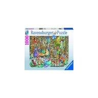 Ravensburger - PUZZLE NOAPTE IN LIBRARIE, 1000 PCS