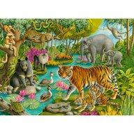 Ravensburger - Puzzle animale Padure in India Puzzle Copii, piese 60