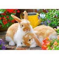 Ravensburger - Puzzle animale Porcusor de guinea si iepuras Puzzle Copii, piese 24