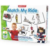THE LEARNING JOURNEY - Puzzle educativ Potriveste conducatorul cu vehiculul Puzzle Copii, piese 60