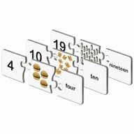 THE LEARNING JOURNEY - Puzzle educativ Potriveste numerele In limba engleza Puzzle Copii, piese 40