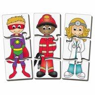 THE LEARNING JOURNEY - Puzzle educativ Potriveste oamenii Puzzle Copii, piese 60