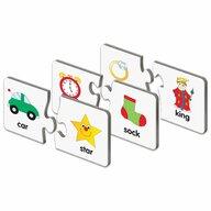 THE LEARNING JOURNEY - Puzzle educativ Potriveste rimele In limba engleza Puzzle Copii, piese 60