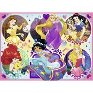 Ravensburger - Puzzle personaje Printesele Disney Puzzle Copii, piese 100